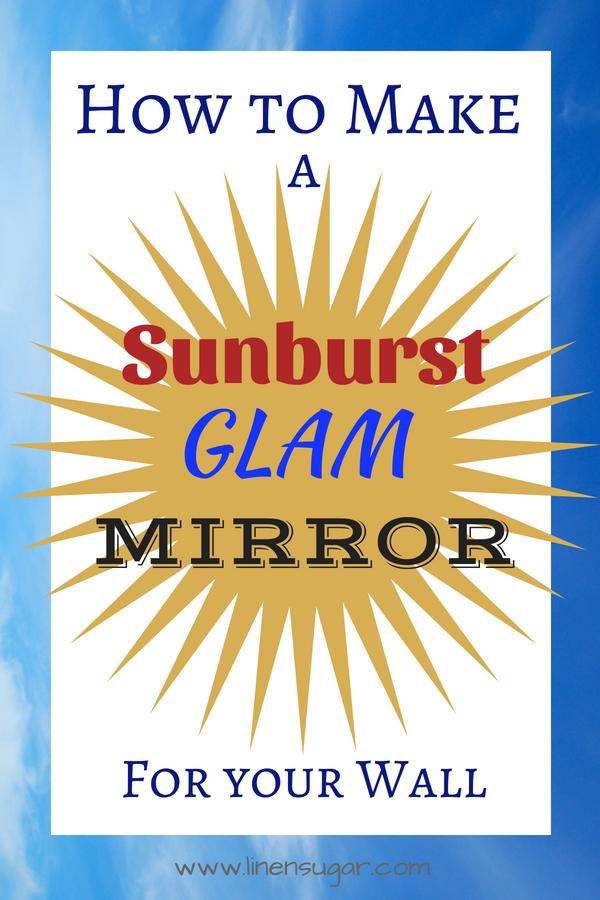 Easy DIY Sunburst Mirror Wall Art   Linen Sugar
